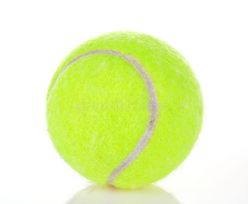 Tennis ball. Isolated on white background stock photo