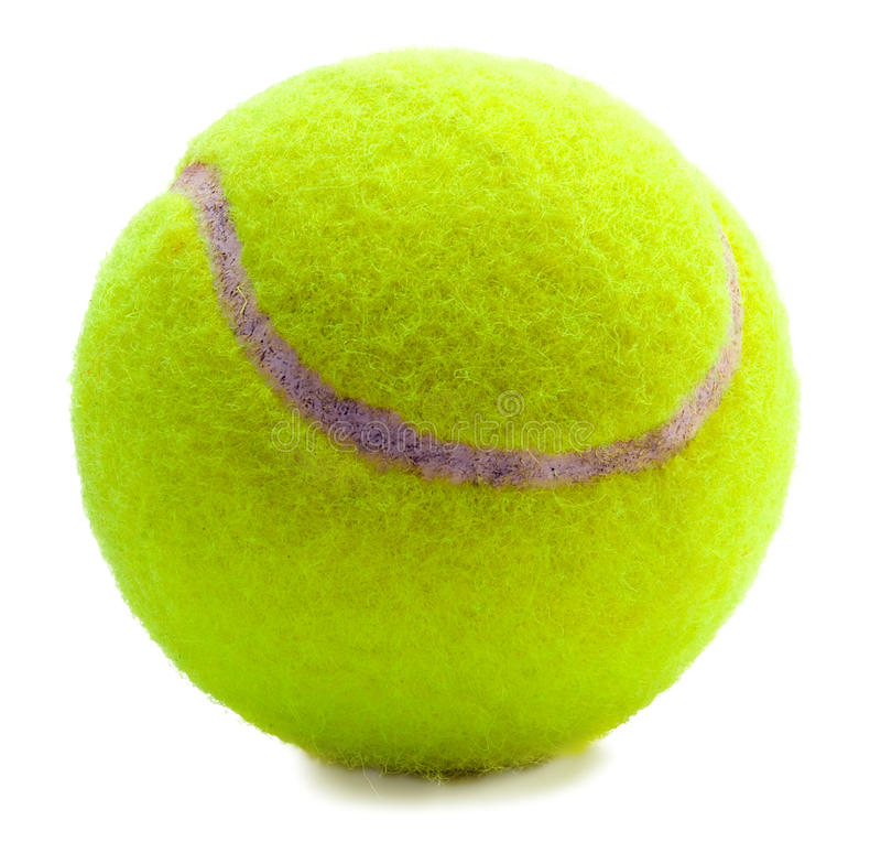 Tennis ball. Isolated on white royalty free stock images