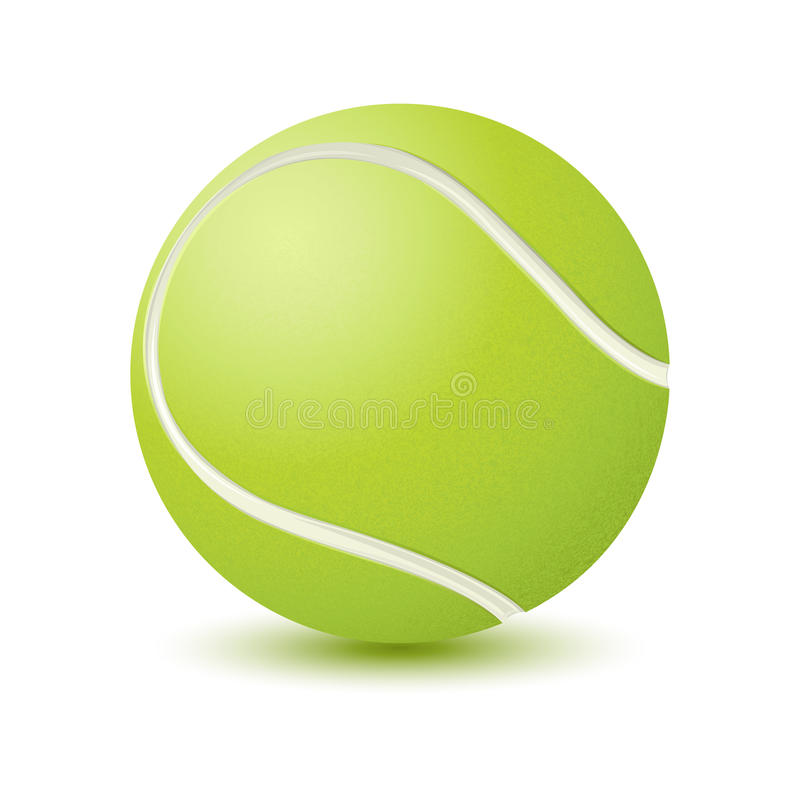Download Tennis Ball stock vector. Image of game, background, play - 18444384