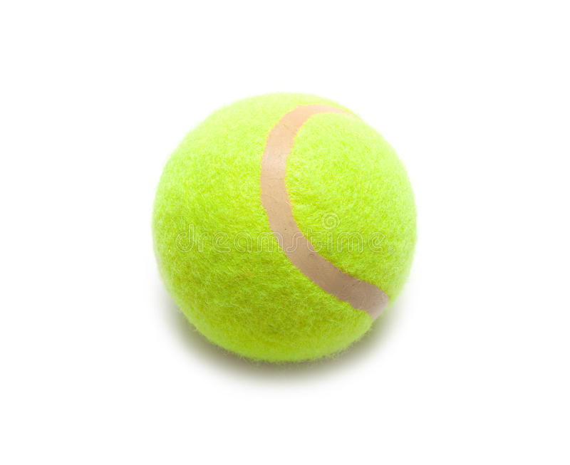 Tennis ball. Isolated on white stock images