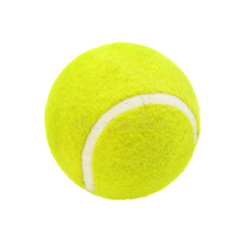 Tennis ball. Isolated on white background royalty free stock photo