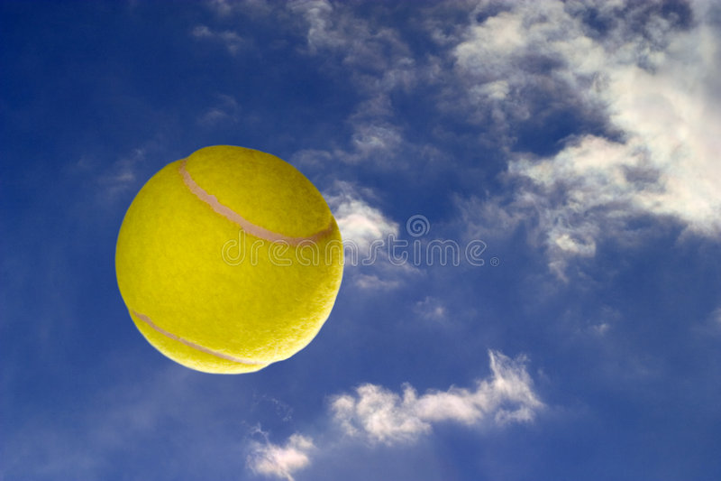 Tennis-ball stock photo