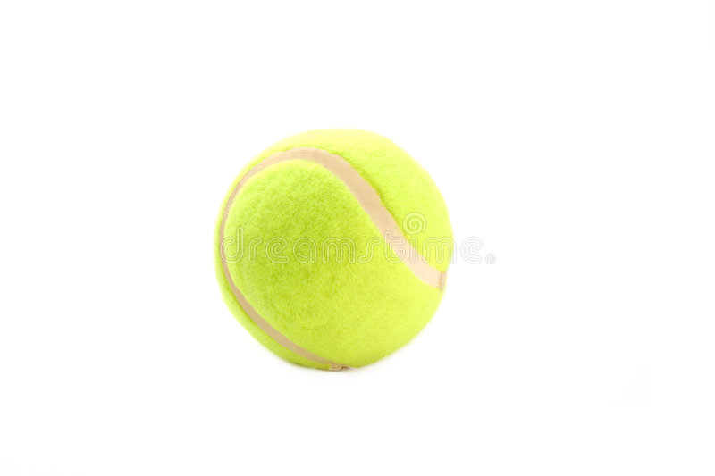 Tennis ball. Isolated tennis ball royalty free stock image