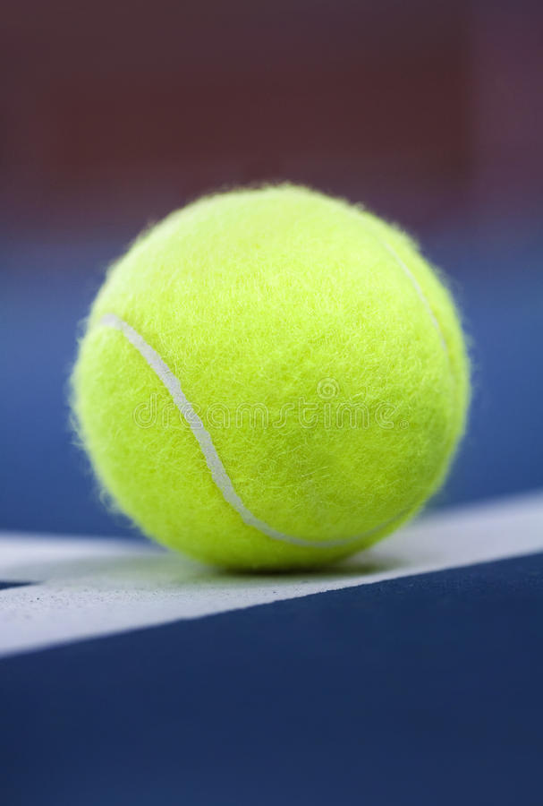Download Tennis ball stock photo. Image of sports, line, up, single - 31409452