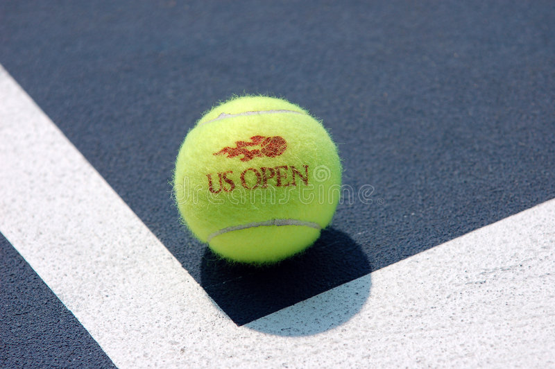 Download Tennis Ball On The Court (2) Editorial Photo - Image: 7670946