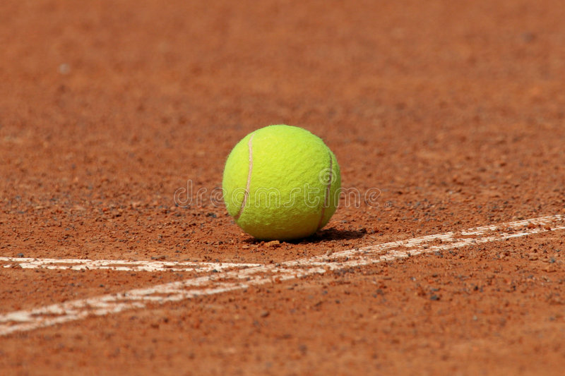 Download Tennis ball on court stock photo. Image of green, ball - 3894800