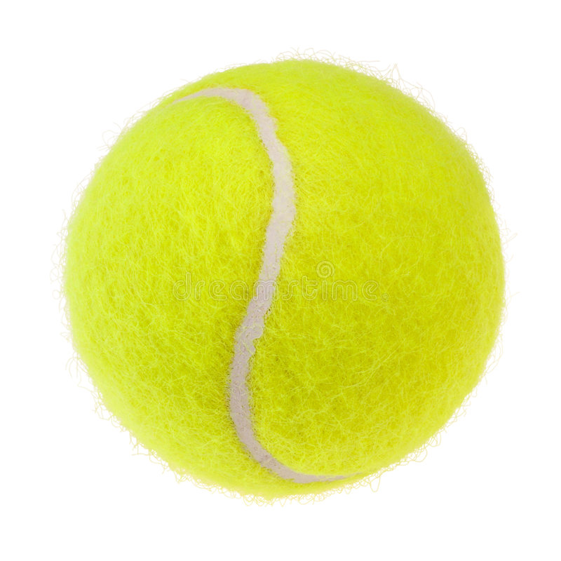 Tennis ball cutout. Tennis ball isolated on white background. For more isolated objects please visit my collections royalty free stock photo