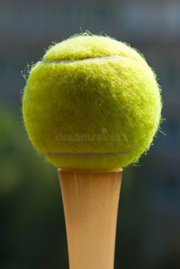 Tennis ball on darck background.  stock photos