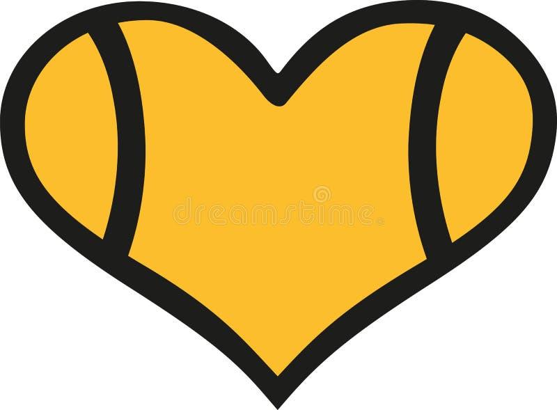 Tennis ball heart stock illustration