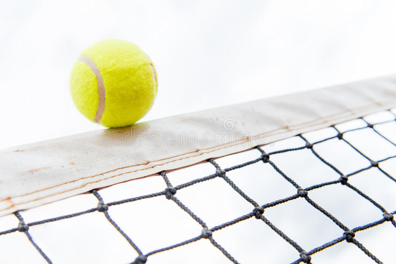 Download Tennis ball hiting the net stock photo. Image of white - 30875754