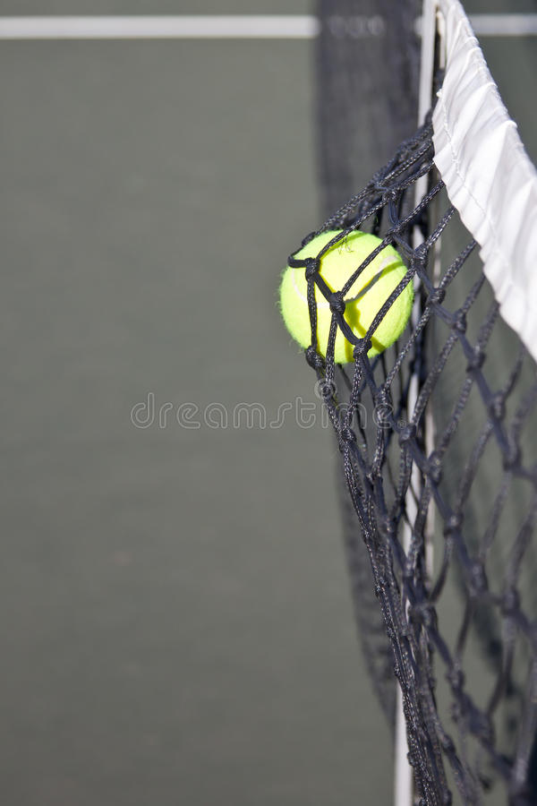 Download Tennis Ball Hitting The Net On A Court Stock Photo - Image: 19131906