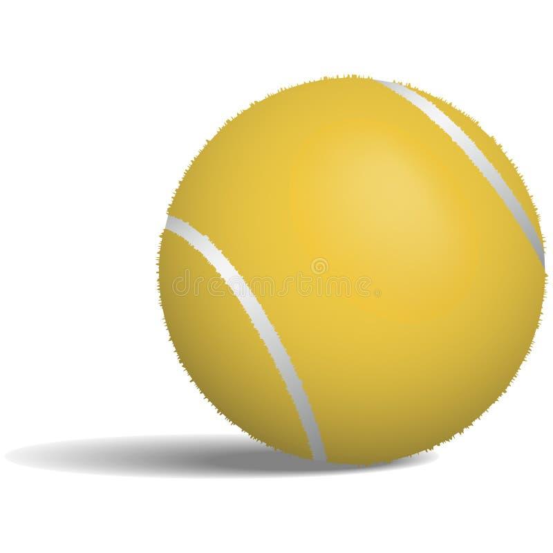Tennis Ball Illustration. Illustration of a tennis ball on a white background vector illustration