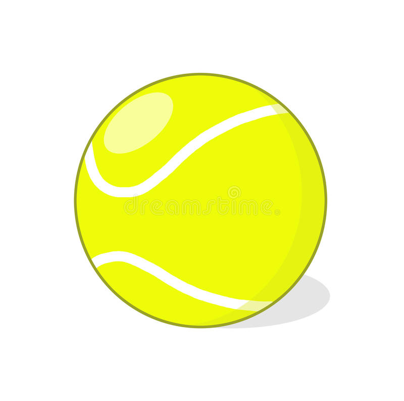 Download Tennis ball illustration stock illustration. Illustration of isolated - 39230502