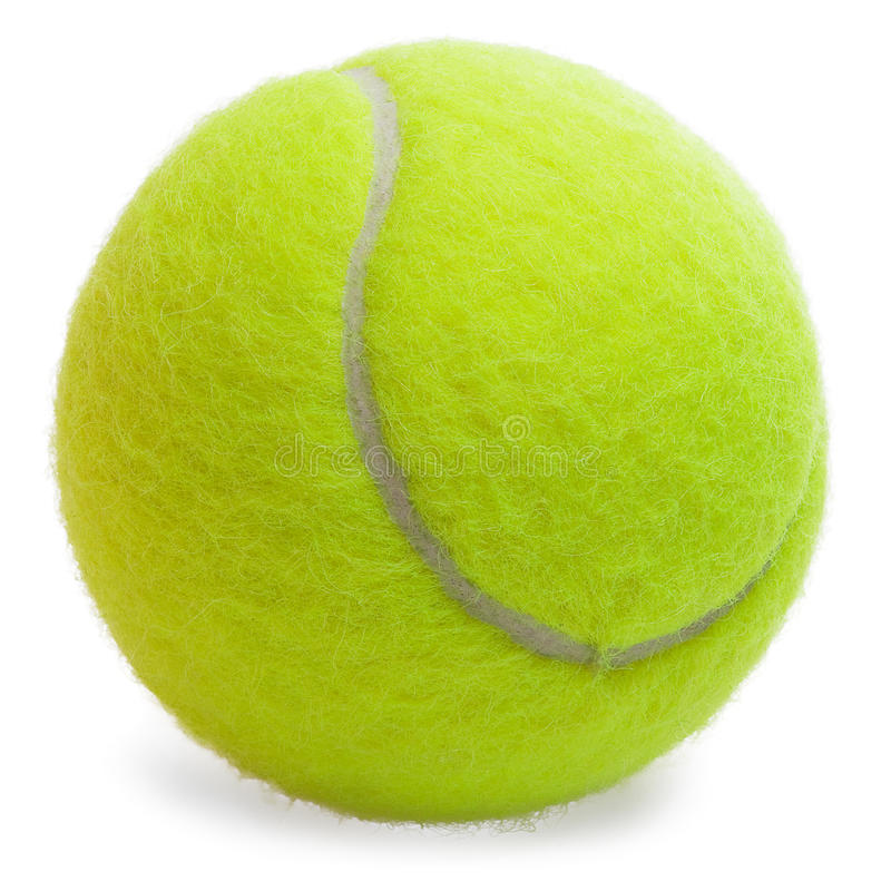 Download Tennis Ball isolated stock image. Image of alone, isolation - 14310351