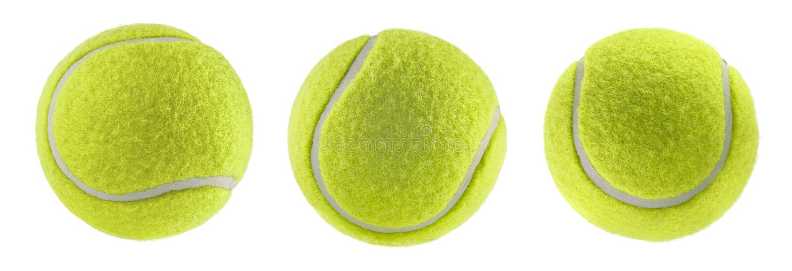 Tennis ball isolated white background - photography stock image