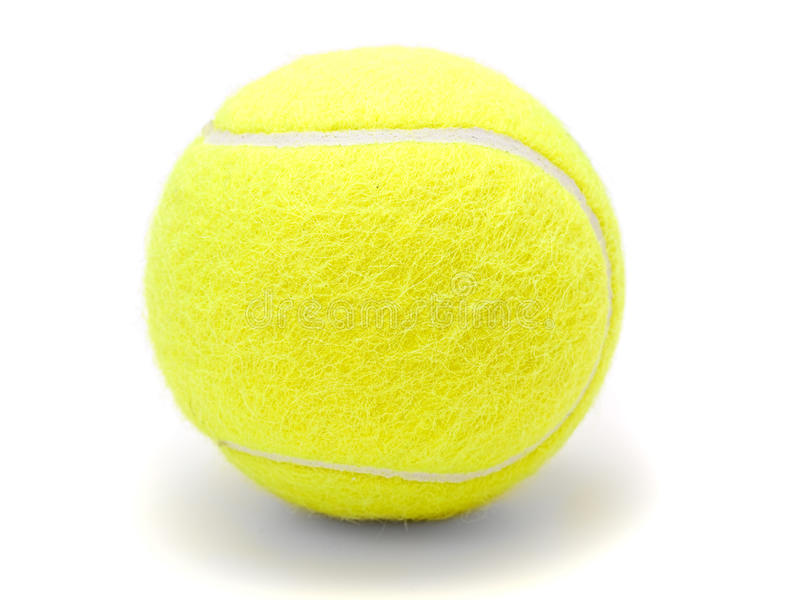 Tennis ball isolated on white. Tennis ball isolated on white on white background stock photography
