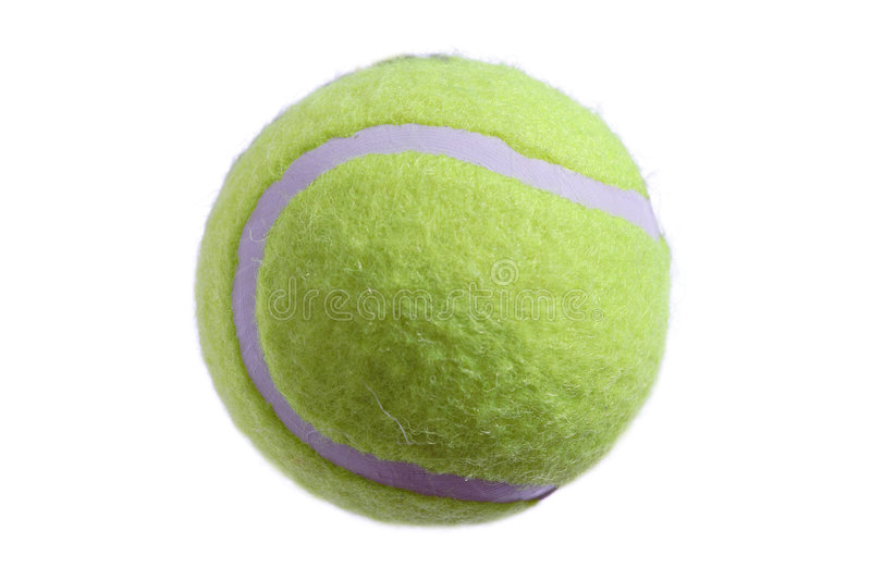 Tennis ball isolated on white royalty free stock images