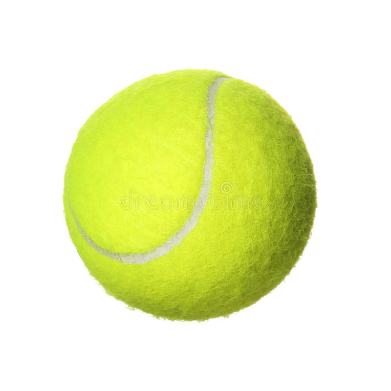 Tennis Ball isolated on white background. Closeup royalty free stock photography