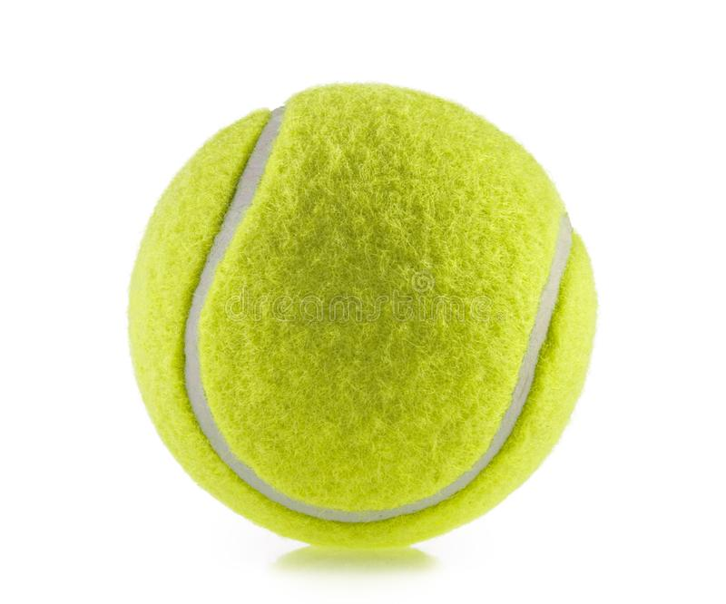 Tennis ball isolated white background - photography stock photography