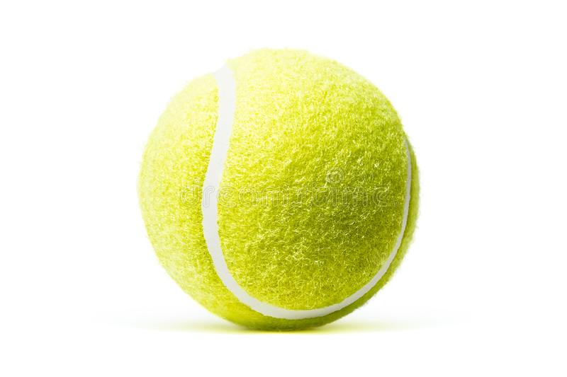 Tennis ball isolated in white background stock photo