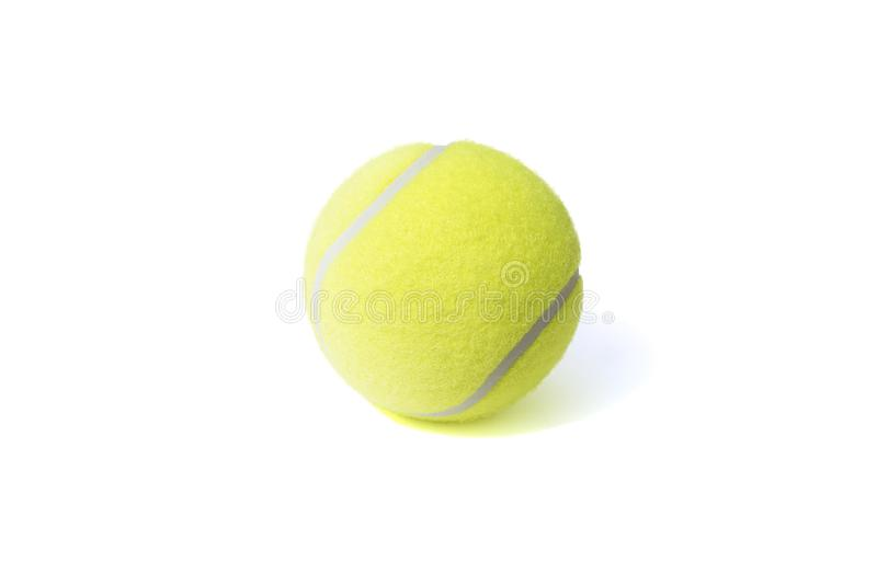 Tennis ball isolates on the white background royalty free stock image
