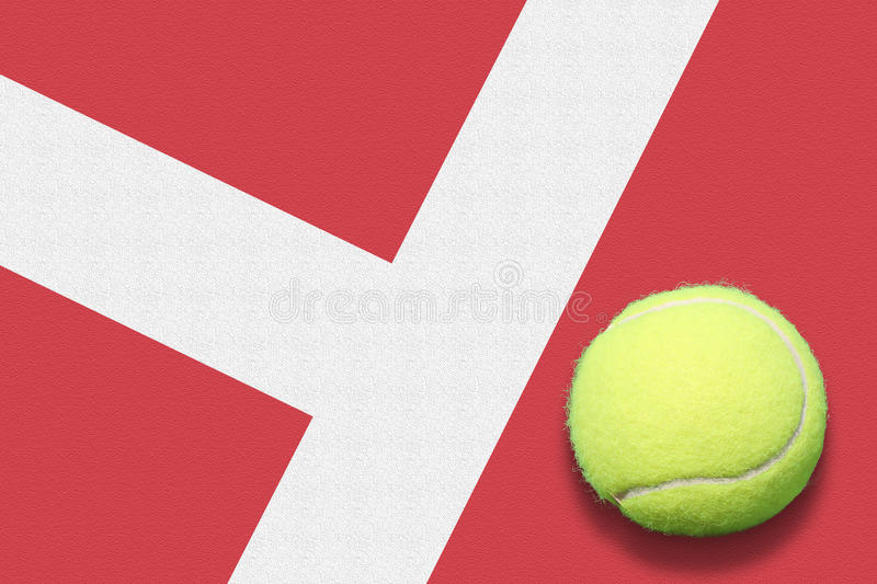 Tennis ball out stock photo