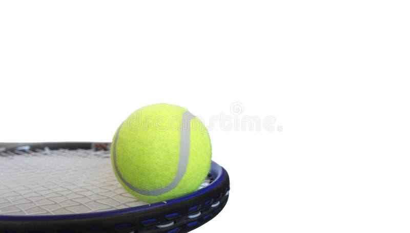 Tennis ball and racket. Photo stock image