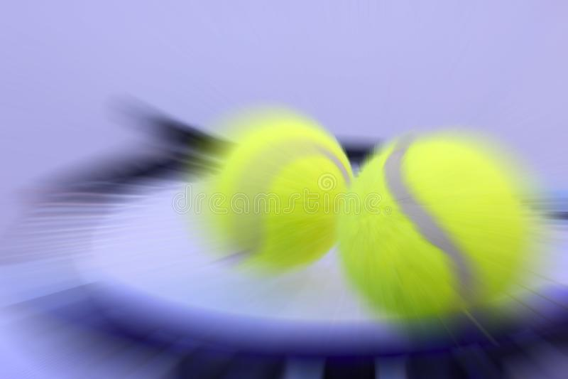 Tennis ball and racket. Detail stock photo