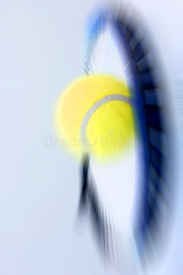 Tennis ball and racket. Photo of tennis ball and racket royalty free stock photos