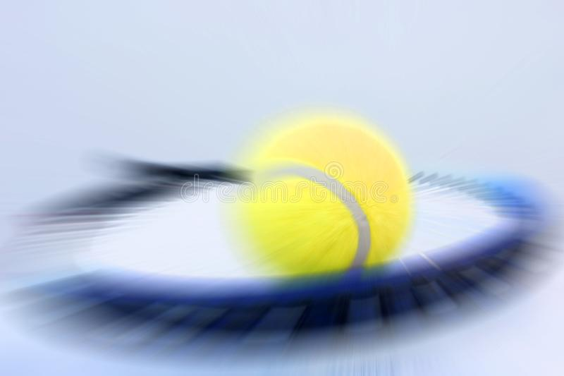 Tennis ball and racket. Detail stock photos