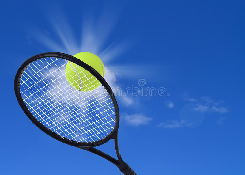 Download Tennis Ball And Racket In Action Stock Illustration - Illustration of exercise, speed: 33564298