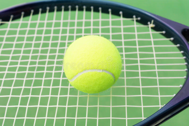 Download Tennis ball and racket stock photo. Image of graphite - 34544470