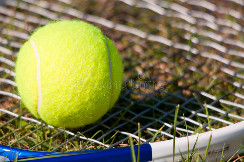 Download Tennis Ball and Racquet stock image. Image of recreational - 21240091