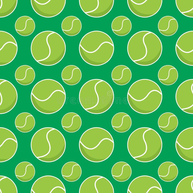 Free Tennis Ball Seamless Pattern Vector Illustration Background Stock Photography - 192746282