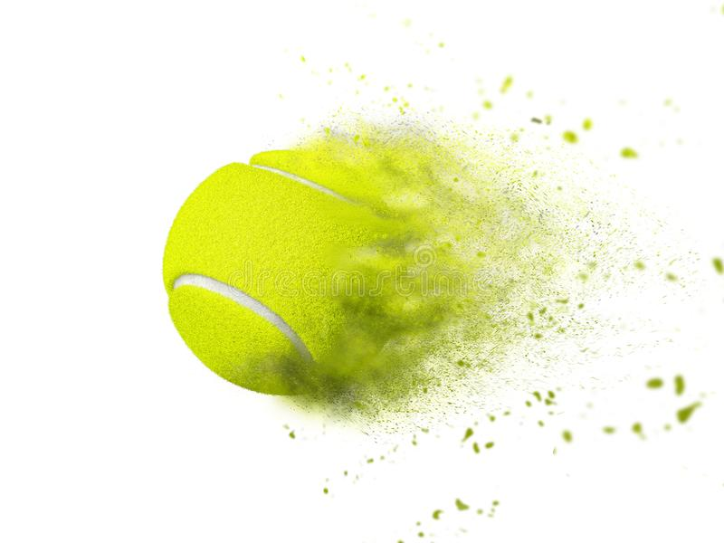 Tennis ball speed effect isolated on white royalty free stock photo