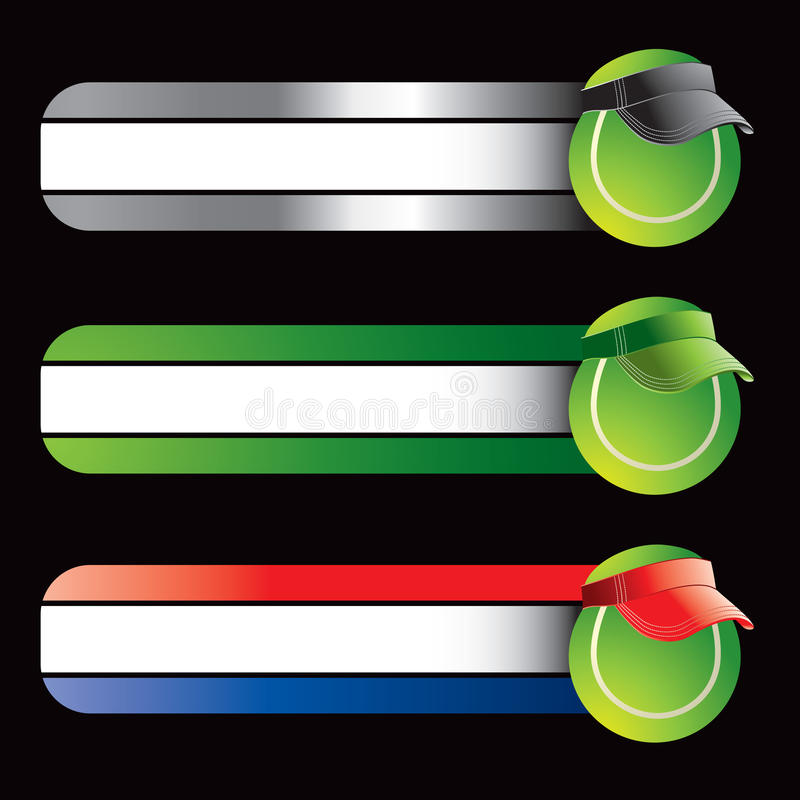 Download Tennis Ball With Visor On Specialized Banners Stock Photos - Image: 11273453