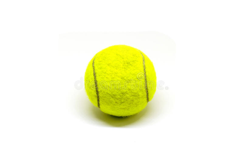 Tennis ball on white background. Tennis game equipment. stock photography