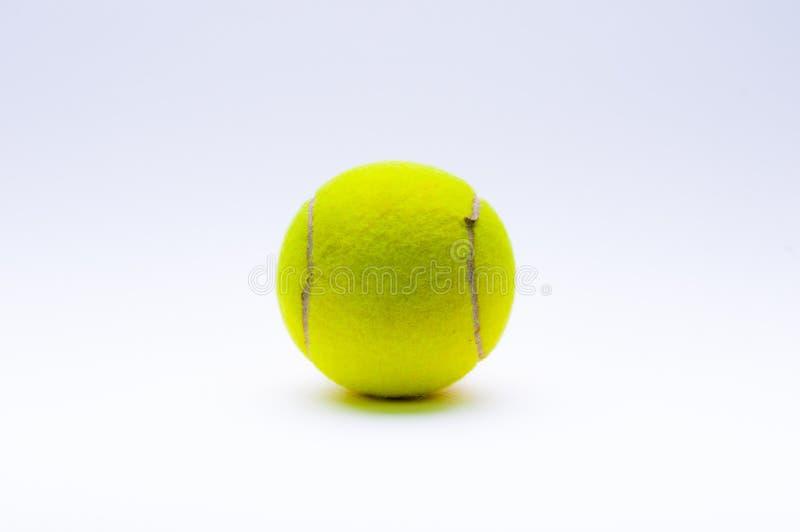 Tennis ball on white background stock photos