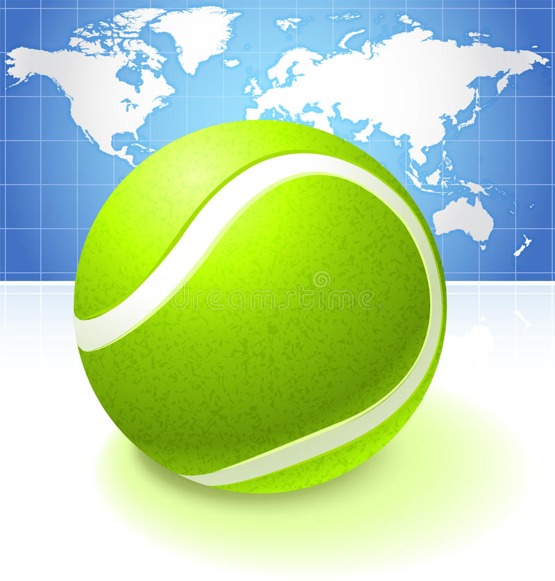 Tennis ball with world map background stock illustration download tennis ball with world map background stock illustration illustration of continents match gumiabroncs Images