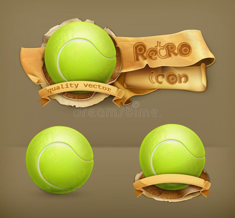 Tennis-ballen, vectorpictogrammen vector illustratie