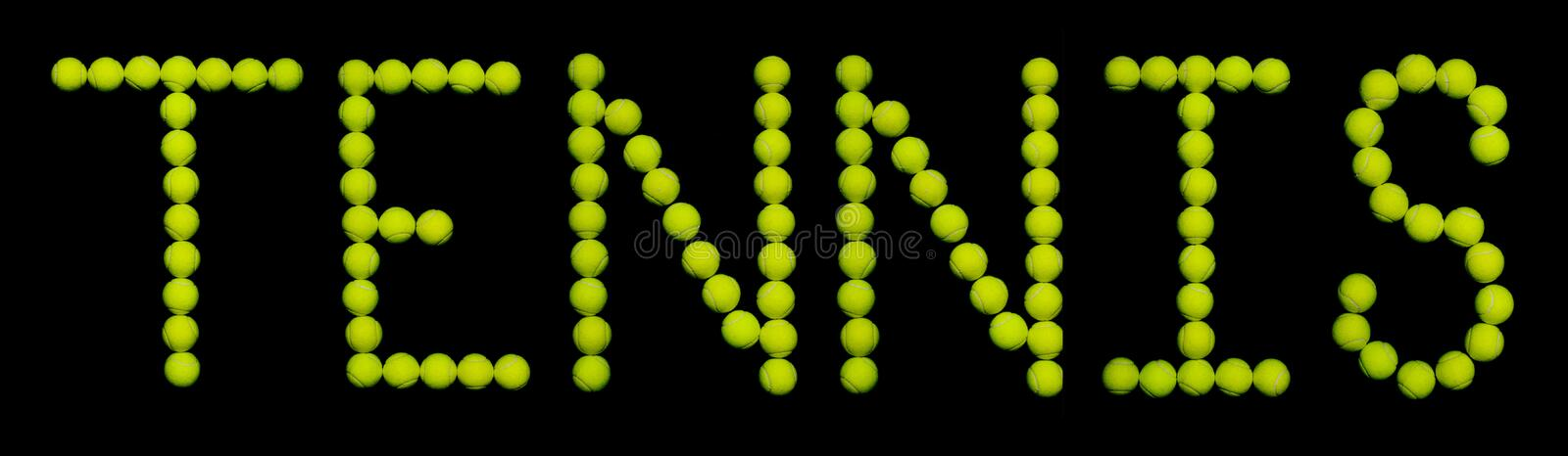 Download Tennis Balls stock image. Image of raquet, yellow, spelling - 207475