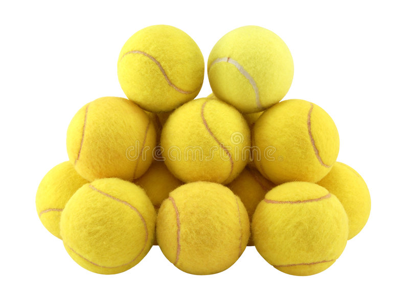 Tennis balls royalty free stock photos