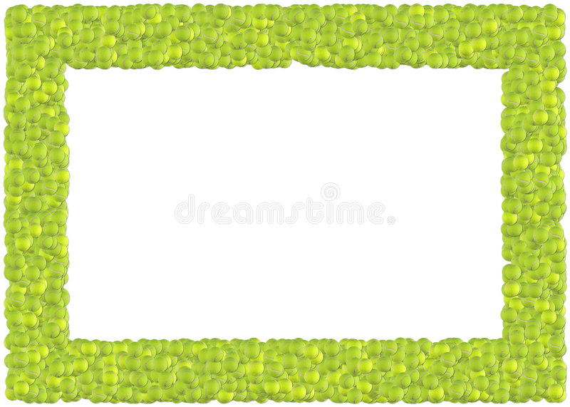 Tennis balls frame stock illustration