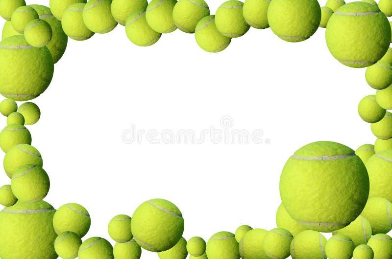 Tennis balls frame stock image