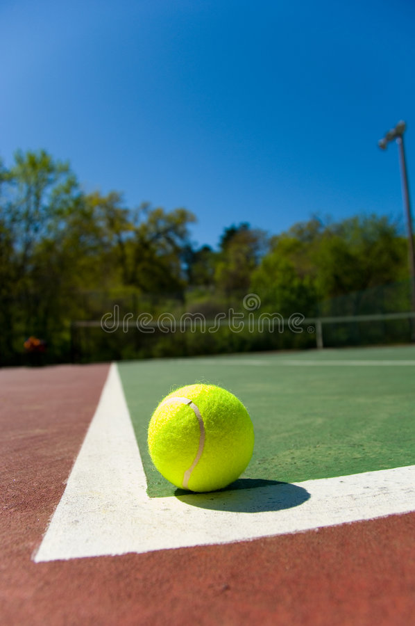 Free Tennis Balls On Court Stock Photos - 2282573