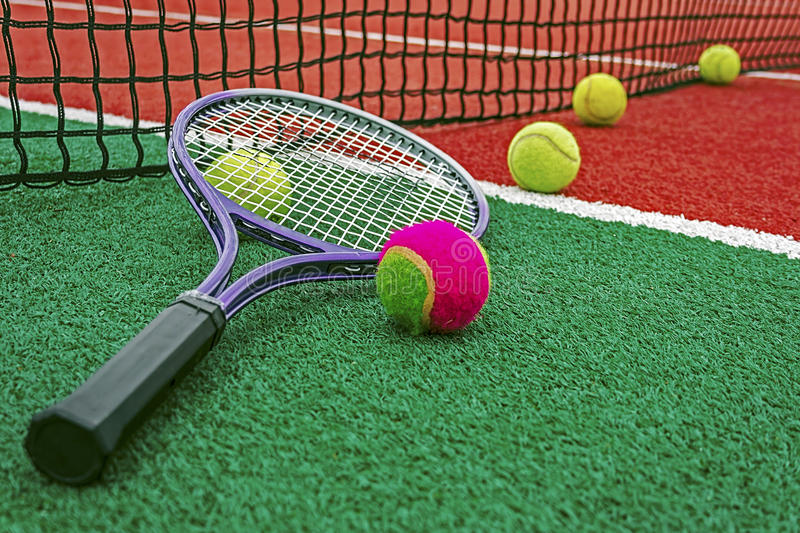 Download Tennis Balls & Racket-2 stock image. Image of multicolored - 29256305