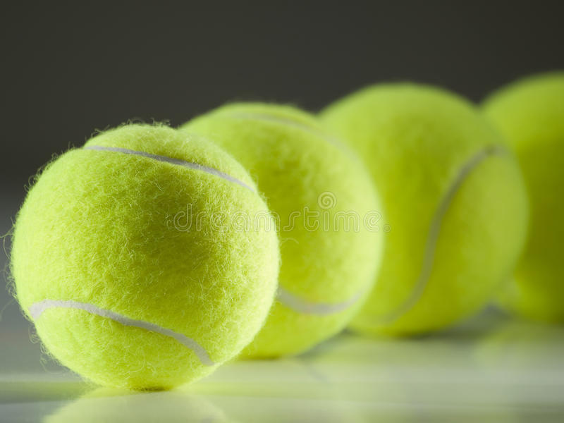 Download Tennis balls in the row stock image. Image of game, match - 16459387