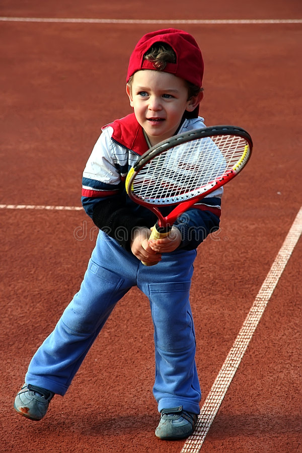 Tennis Boy stock photography