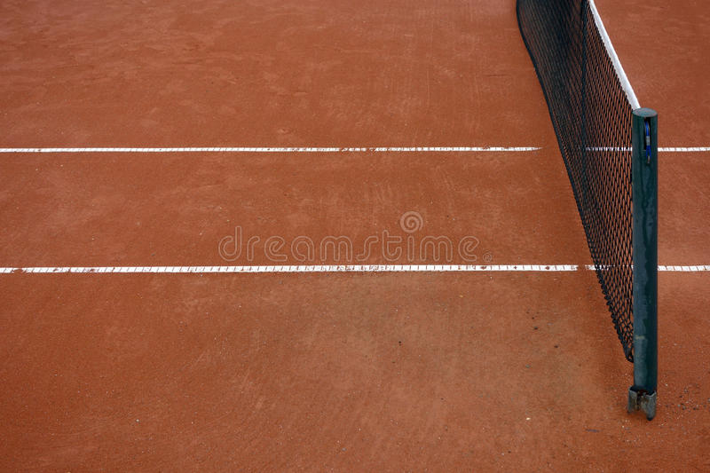 Tennis Clay court stock image