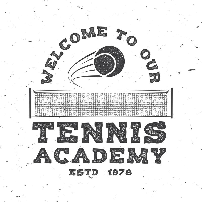 Tennis club. Vector illustration. royalty free illustration
